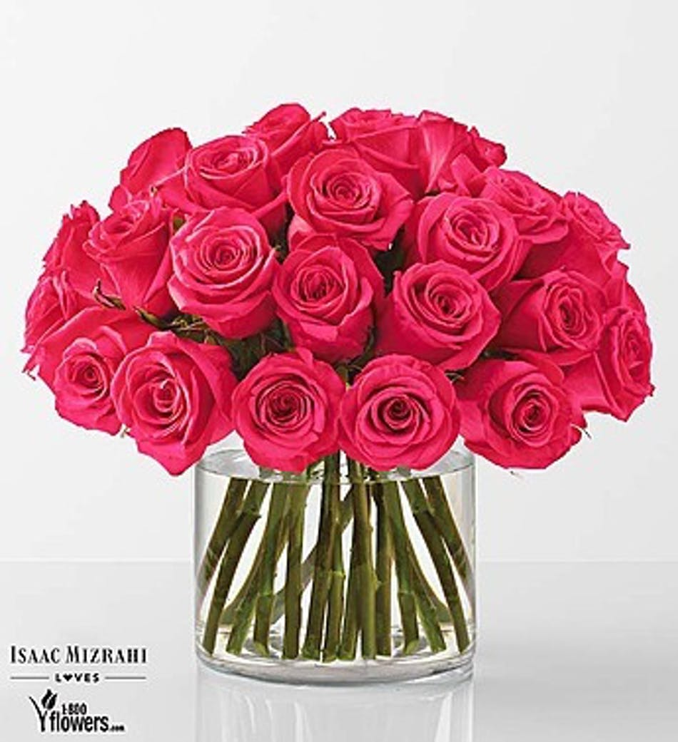 Hot Pink Rose Bouquet By Isaac Mizrahi Kansas City Florist