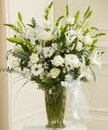 Beautiful Blessings White vase arrangement