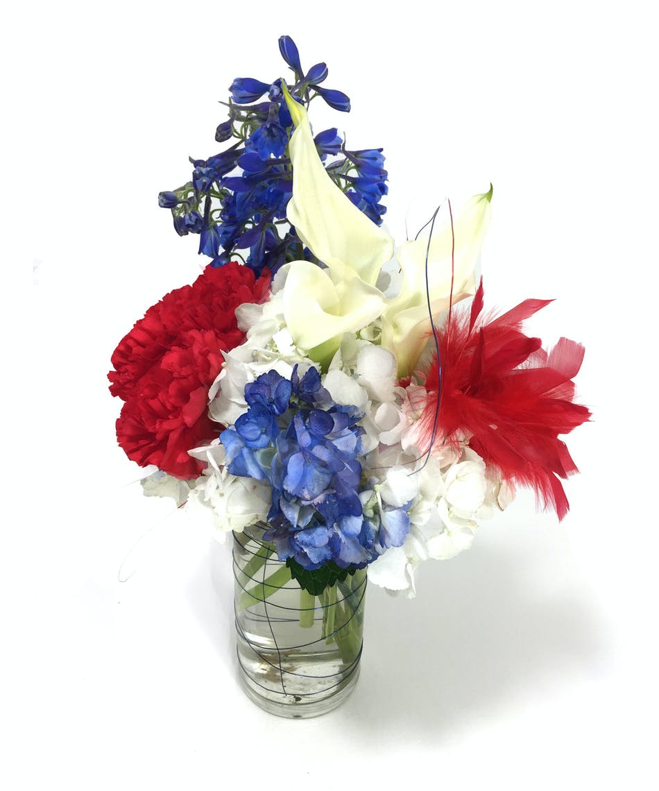Red White And Blue Kansas City Florist Flower Delivery Kansas City