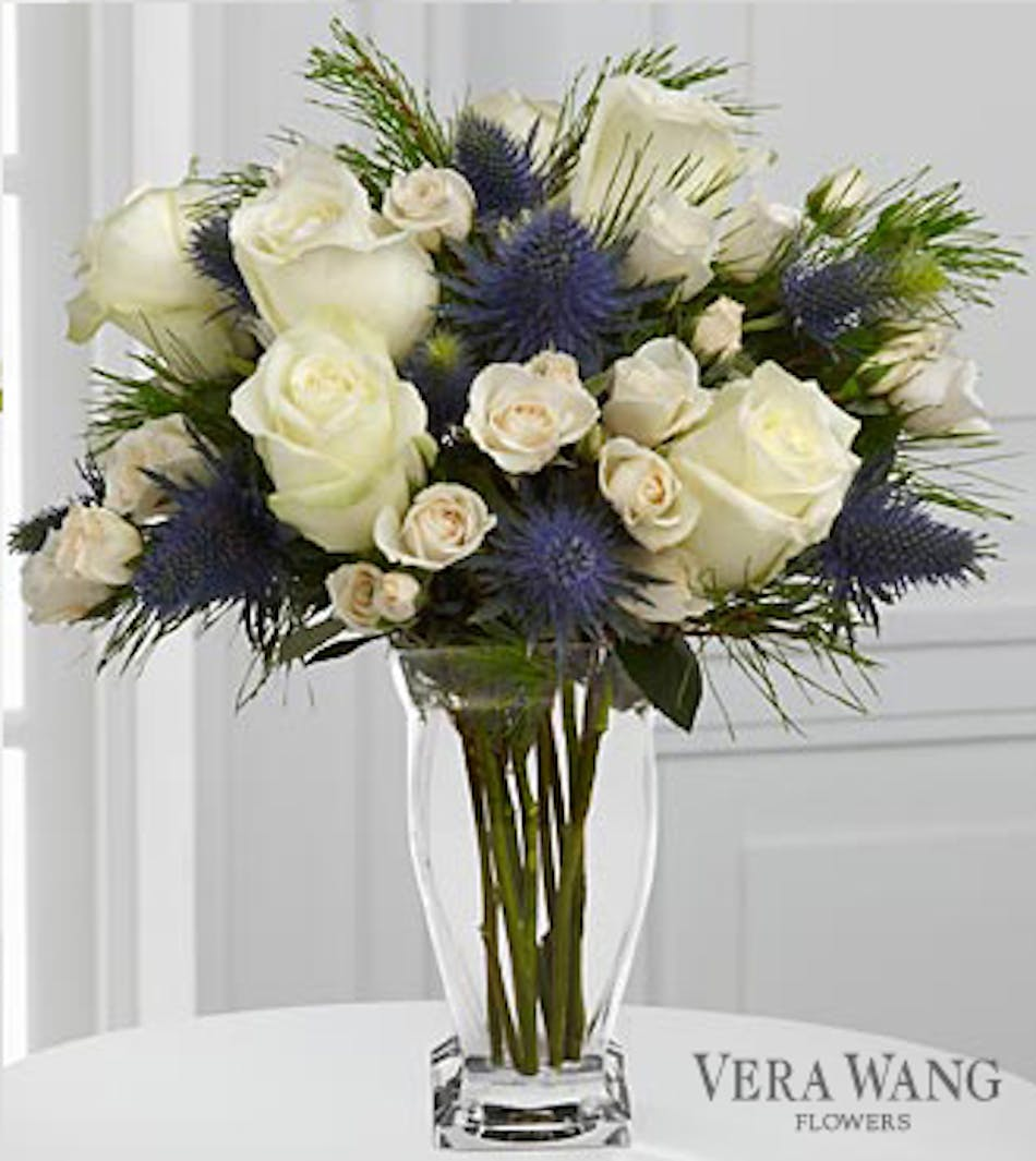 Blue And White Bouquet Kansas City Florist Flower Delivery