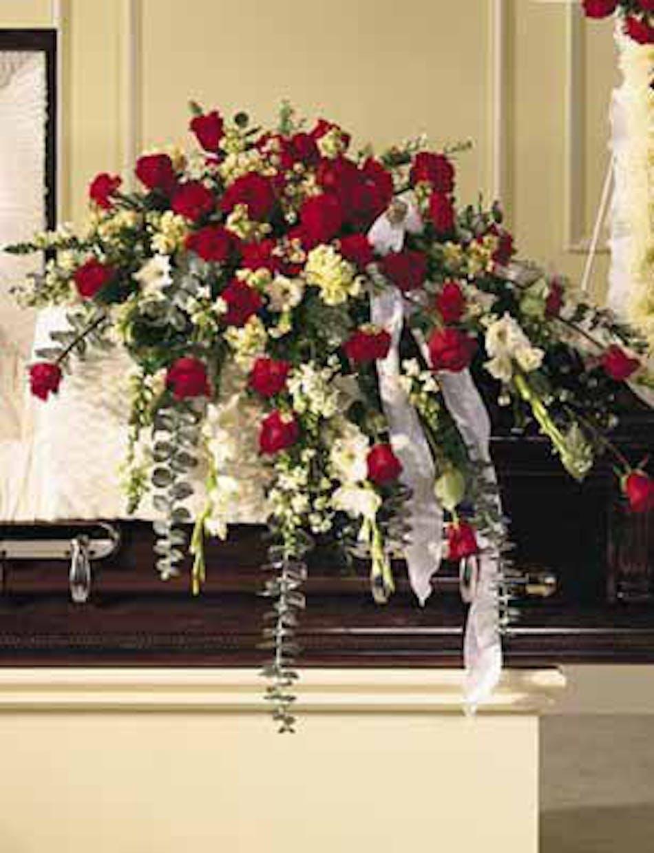 Sympathy Casket Spray Traditional Kansas City Florist Flower