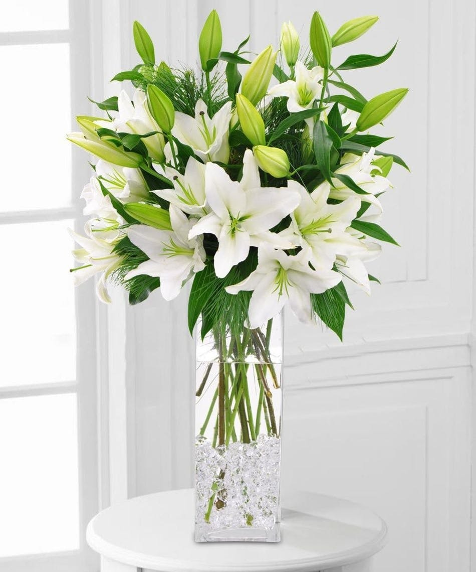 Magical White Lilies Kansas City Florist Flower Delivery Kansas City