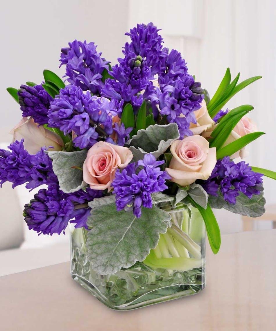 Hyacinth and roses kansas city florist flower delivery kansas city izmirmasajfo
