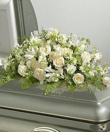 White Rememberence Casket Spray