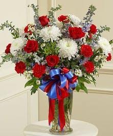 America Patriot Sympathy Vase