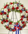 American Patriot Sympathy Wreath