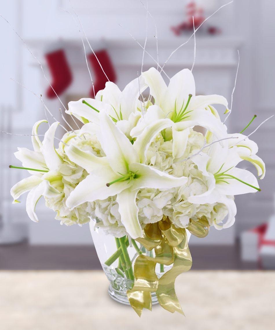 Winter Whites Kansas City Florist Flower Delivery Kansas City