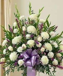 Sympathy Tribute Basket Lavender
