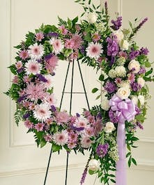 Sympathy Wreath Purple